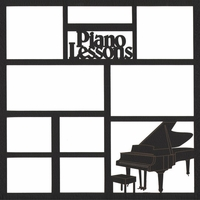 Piano Lessons 12 x 12 Overlay Laser Die Cut