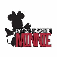 Picture with Minnie Laser Die Cut