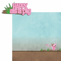 2SYT Piggy: Happy as a pig 2 Piece Laser Die Cut Kit