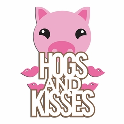Piggy: Hogs n kisses  Laser Die Cut
