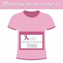 Pink Power: Custom Running in memory of Laser Die Cut