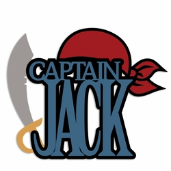 Pirates: Capt. Jack Laser Die Cut