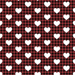 Plaid: Heart 12 x 12 Paper