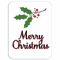 Plaid: Merry Christmas Laser Die Cut