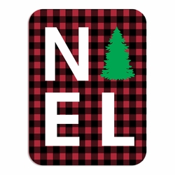 1SYT Plaid: Noel Laser Die Cut