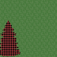 Plaid: Tree 12 x 12 Paper
