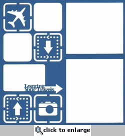 Plane: Logging Your Travels 12 x 12 Overlay Laser Die Cut