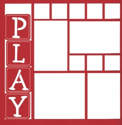 Play Blocks 12 x 12 Overlay Laser Die Cut