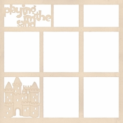 Playing In The Sand 12 x 12 Overlay Laser Die Cut