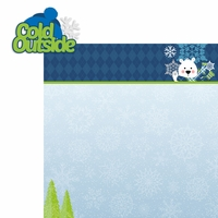 Polar Bear: Cold Outside  2 Piece Laser Die Cut Kit