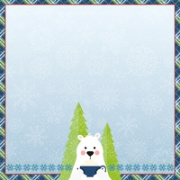 Polar Bear: Snow and cocoa 12 x 12 Paper