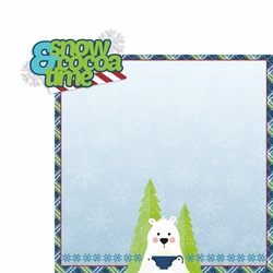 2SYT Polar Bear: Snow and cocoa 2 Piece Laser Die Cut Kit