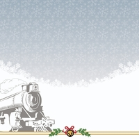 Polar Express: Train and Ticket 12 x 12 Paper