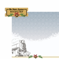 Polar Express: Train and Ticket 2 Piece Laser Die Cut Kit