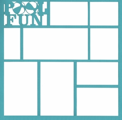 Pool Fun 12 x 12 Overlay Laser Die Cut