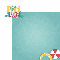 Pool Fun 2 Piece Laser Die Cut Kit