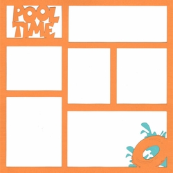 Pool Time 12 x 12 Overlay Laser Die Cut