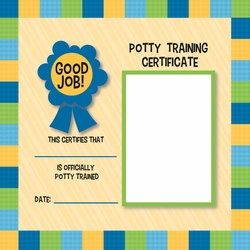 Potty Time: Potty Certificate Boy12 x 12 Paper