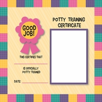 Potty Time: Potty Certificate Girl 12 x 12 Paper