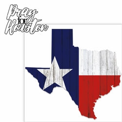 Pray For Houston 2 Piece Laser Die Cut Kit