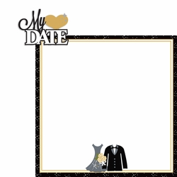 Prom: My date 2 Piece Laser Die Cut Kit