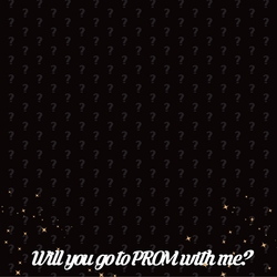 Prom Night: Will you go to prom with me? 12 x 12 Paper