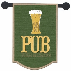 Pub Sign Laser Die Cut