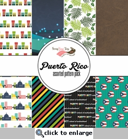 Puerto Rico Assorted 12 x 12 Paper Pack