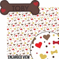 Puppy Love: Custom Dog Bone 2 Piece Laser Die Cut Kit