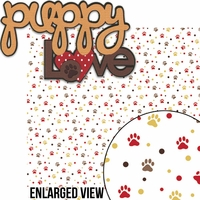 Puppy Love: Puppy Love 2 Piece Laser Die Cut Kit