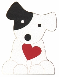 Puppy With Heart Laser Die Cut