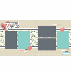 Purrfect Friends Cat 2 Page Layout Kit