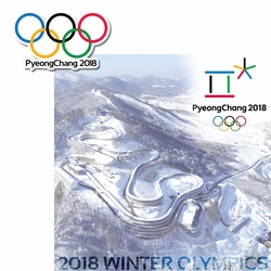 Pyeongchang 2018 Winter Olympics 2 Piece Laser Die Cut Kit
