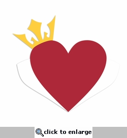 Queen of Hearts: Heart Crown Laser Die Cut