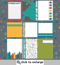 R We There Yet? Journaling Cards 12 x 12 Paper