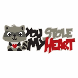 2SYT Raccoon: You Stole My Heart Laser Die Cut