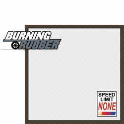 Racecar: Burning Rubber 2 Piece Laser Die Cut Kit