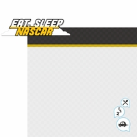 Racecar: Eat, Sleep, Nascar 2 Piece Laser Die Cut Kit