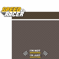 Racecar: Speed Racer 2 Piece Laser Die Cut Kit