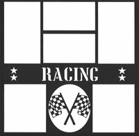 Racing 12 x 12 Overlay Laser Die Cut