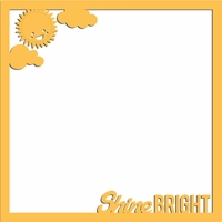 Rainbow: Shine Bright 12 x 12 Overlay Laser Die Cut