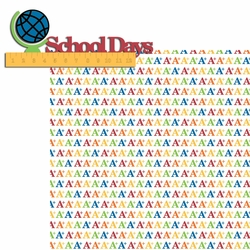 Raise Your Hand: School Days Laser Die Cut Kit