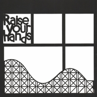 Raise Your Hands 12 x 12 Overlay Laser Die Cut