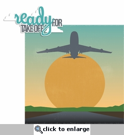 Ready for Take Off 2 Piece Laser Die Cut Kit