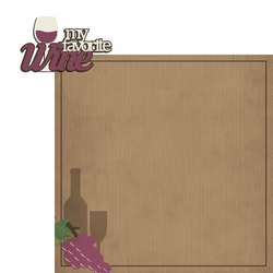 Red or White: Favorite Wine Red 2 Piece Laser Die Cut Kit