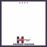 Register to Vote: Hillary 12 x 12 Paper