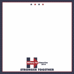 2SYT Register to Vote: Hillary 12 x 12 Paper