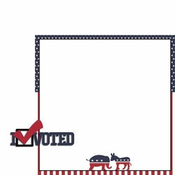 Register to Vote: I Voted 2 Piece Laser Die Cut Kit