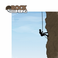 Rock Climbing: Rock Climbing 2 Piece Laser Die Cut Kit