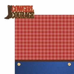 Rodeo: Cowgirl Courage 2 Piece Laser Die Cut Kit